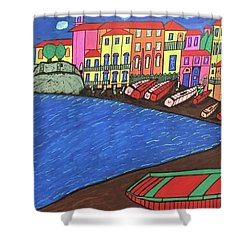 Sestri Levante Italy Shower Curtain by Jonathon Hansen