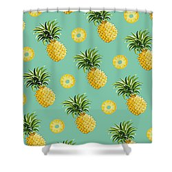 Set Of Pineapples Shower Curtain