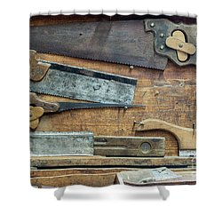 Set Of Various Hand Saws Shower Curtain by Michal Boubin