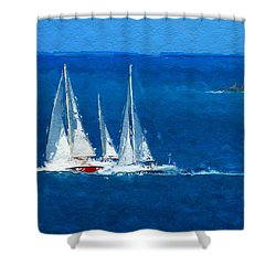 Set Sail Shower Curtain by Anthony Fishburne