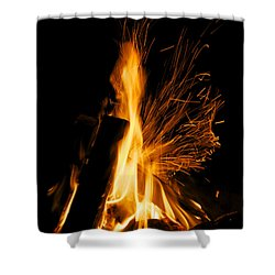 Set The Night On Fire Shower Curtain by Jane Eleanor Nicholas