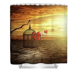 Shower Curtain featuring the digital art Set Your Self Free by Nathan Wright