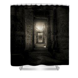 Seti I Temple Abydos Shower Curtain by Nigel Fletcher-Jones