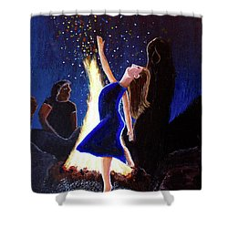 Setting On Fire Shower Curtain