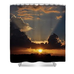Shower Curtain featuring the photograph Setting Softly by Jan Amiss Photography