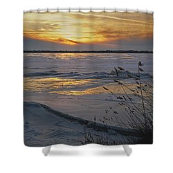 Setting Sun Shower Curtain by Judy Johnson