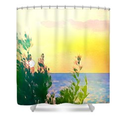 Pastel Colors On The Atlantic Ocean In Cancun Shower Curtain
