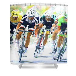 Setting The Pace Shower Curtain