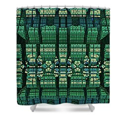Settlement In Deep Space Shower Curtain