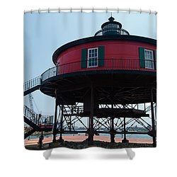 Seven-foot Knoll Lighthouse Shower Curtain