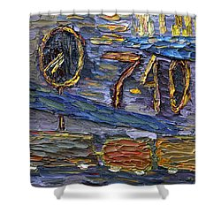 Shower Curtain featuring the painting Seven Forty by Vadim Levin
