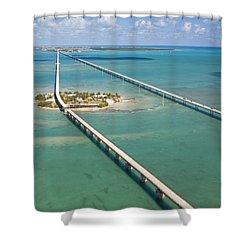 Seven Mile Bridge Crossing Pigeon Key Shower Curtain