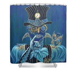Seven Sharp Shower Curtain by Shauna Eggleston
