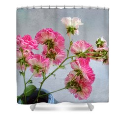 Seven Sisters Roses Shower Curtain