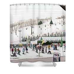 Seven Springs Stowe Slope Shower Curtain by Albert Puskaric