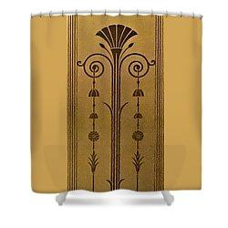 Severance Hall Art Deco Panel Shower Curtain