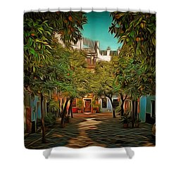 Seville Oranges Shower Curtain