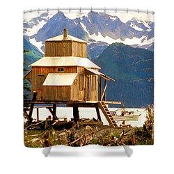 Seward Alaska House Of Stilts Shower Curtain by James BO  Insogna