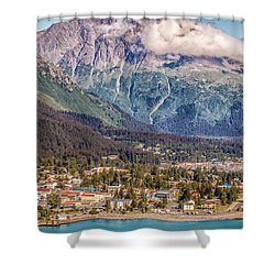 Seward Alaska Shower Curtain by Michael Rogers