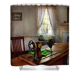 Sewing - My Sewing Room  Shower Curtain by Mike Savad