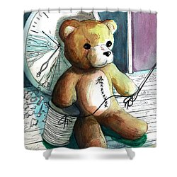 Sewn Up Teddy Bear Shower Curtain