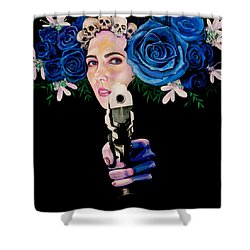 Sex Pistol Shower Curtain by Yelena Tylkina