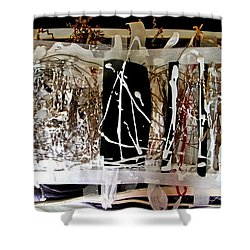 Shower Curtain featuring the photograph S'exposer  by Danica Radman