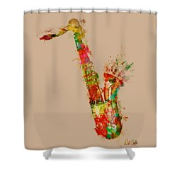 Sexy Saxaphone Shower Curtain by Nikki Smith