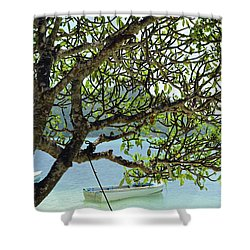 Seychelles Island Shower Curtain by Eva Kaufman