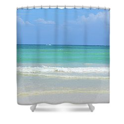 Seychelles Islands 3 Shower Curtain by Eva Kaufman