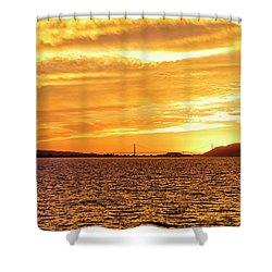 Sf Bay Area Sunset Shower Curtain