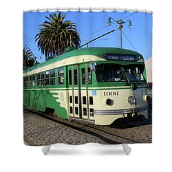 Sf Muni Railway Trolley Number 1006 Shower Curtain