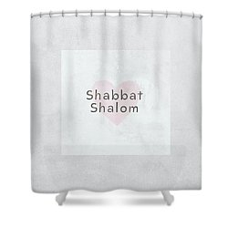 Shower Curtain featuring the mixed media Shabbat Shalom Soft Heart- Art By Linda Woods by Linda Woods