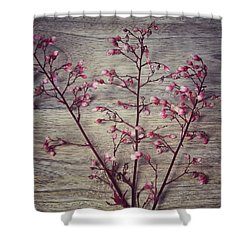Shabby Chic Coral Bell Flowers Shower Curtain