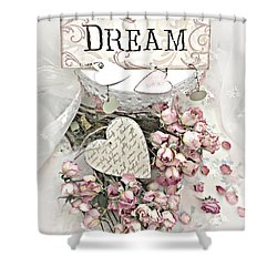 Shower Curtain featuring the photograph Shabby Chic Romantic Dream Valentine Roses - Romantic Dreamy Roses Valentine Hearts by Kathy Fornal