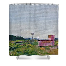 Shack On Sunrise Drive In Monterey Shower Curtain