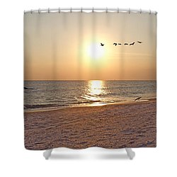 Shackleford Banks Sunset Shower Curtain
