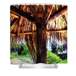 Shower Curtain featuring the photograph Shade On The Beach by Pennie  McCracken