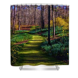 Shaded Spring Stroll Shower Curtain