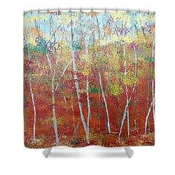 Shades Of Autumn Shower Curtain by Judi Goodwin
