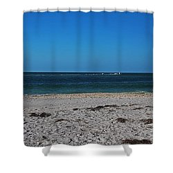 Shower Curtain featuring the photograph Shades Of Blue by Michiale Schneider