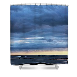 Shower Curtain featuring the photograph Shades Of Blue.. by Nina Stavlund