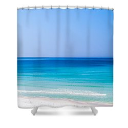 Shades Of Blue Shower Curtain by Shelby  Young