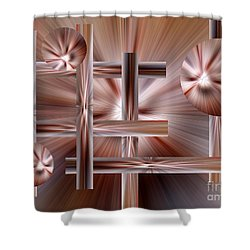 Shades Of Coffee Shower Curtain by Trena Mara