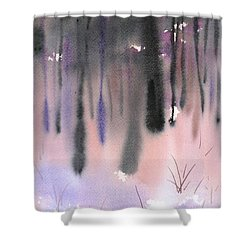 Shades Of Forest Shower Curtain by Yolanda Koh
