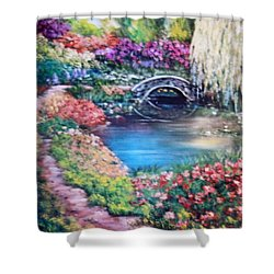 Shades Of Giverny Shower Curtain
