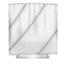 Shades Of Gray Curves Square Edition Shower Curtain