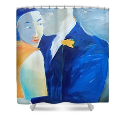 Shades Of Gray Shower Curtain by Gary Coleman