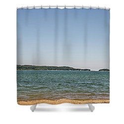 Shower Curtain featuring the photograph Shades Of Green And Blue by Sue Smith