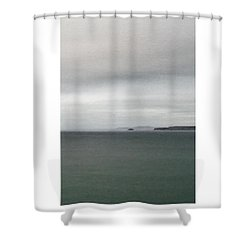 Shower Curtain featuring the digital art Shades Of Grey by Julian Perry